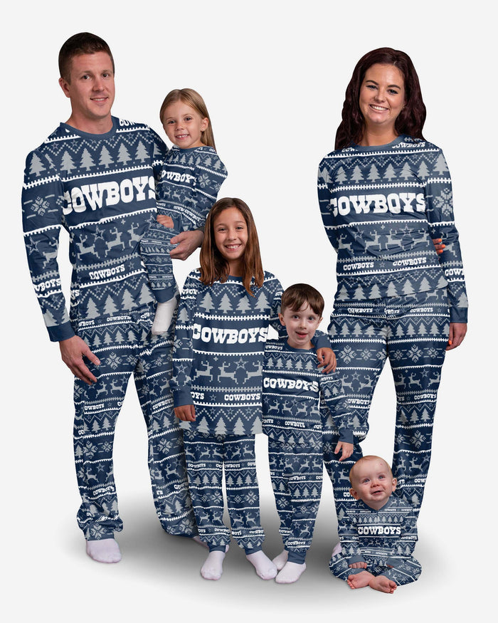 Dallas Cowboys Youth Family Holiday Pyjamas FOCO - FOCO.com | UK & IRE