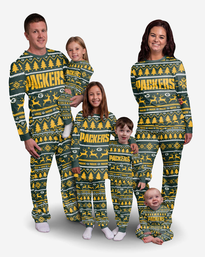 Green Bay Packers Youth Family Holiday Pyjamas FOCO - FOCO.com | UK & IRE