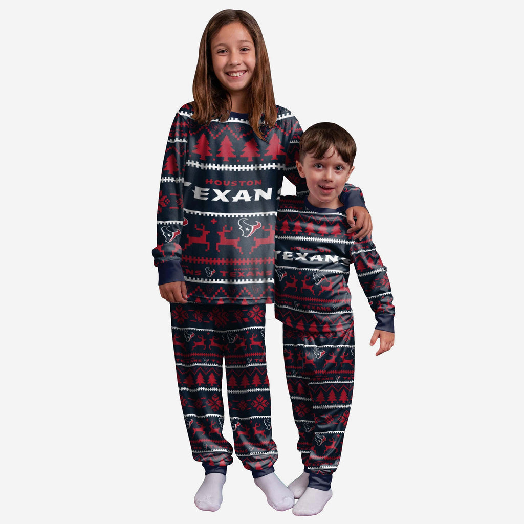 Houston Texans Youth Family Holiday Pyjamas FOCO 4 - FOCO.com | UK & IRE