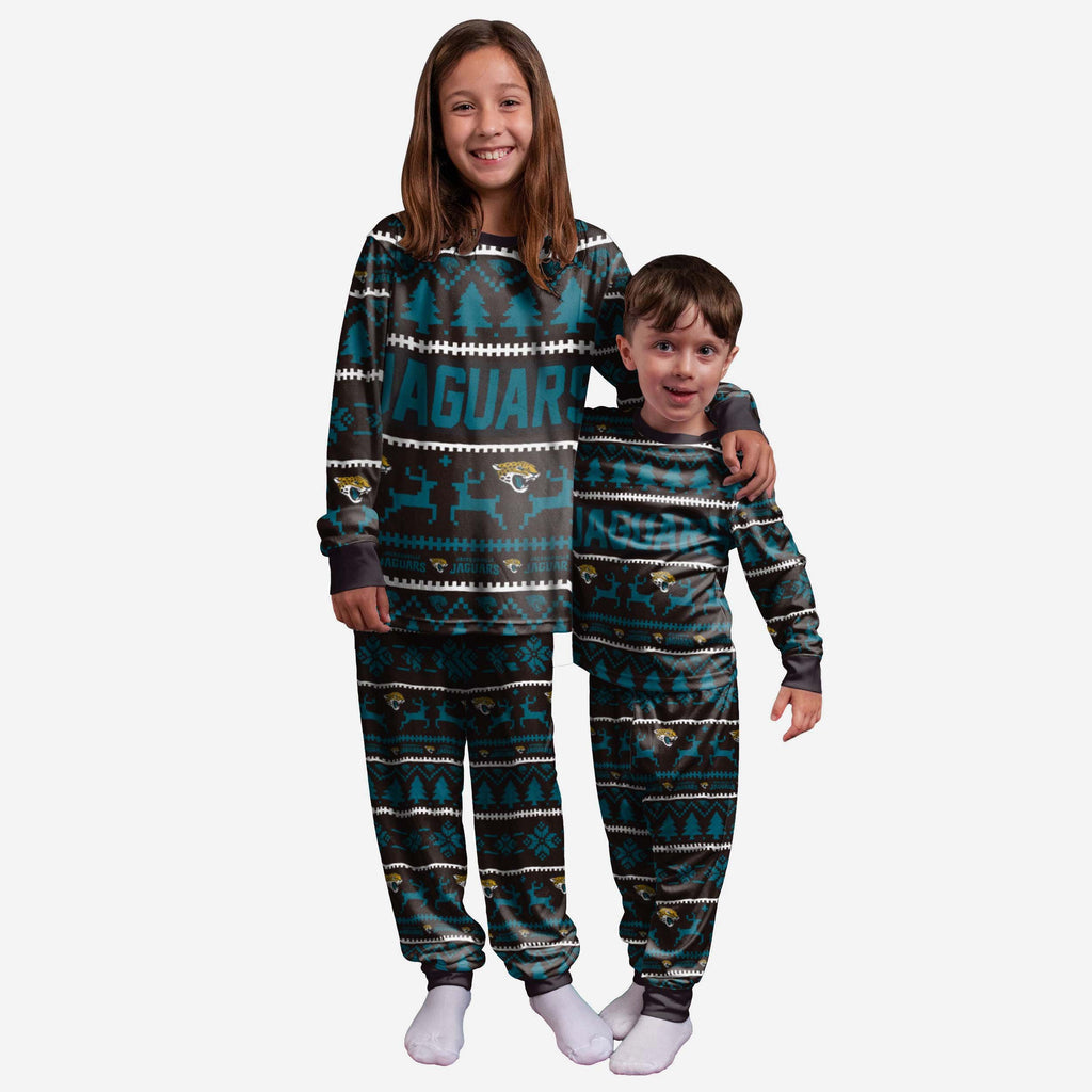 Jacksonville Jaguars Youth Family Holiday Pyjamas FOCO 4 - FOCO.com | UK & IRE