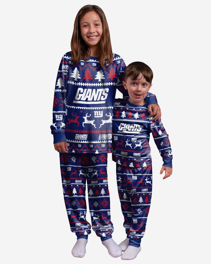 New York Giants Youth Family Holiday Pyjamas FOCO 4 - FOCO.com | UK & IRE