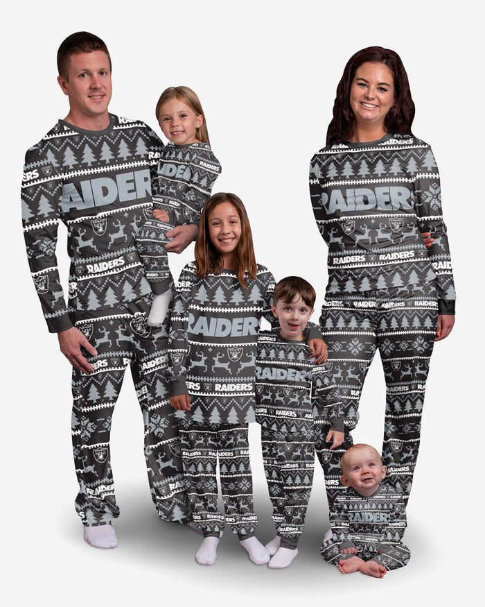 Las Vegas Raiders Youth Family Holiday Pyjamas FOCO - FOCO.com | UK & IRE