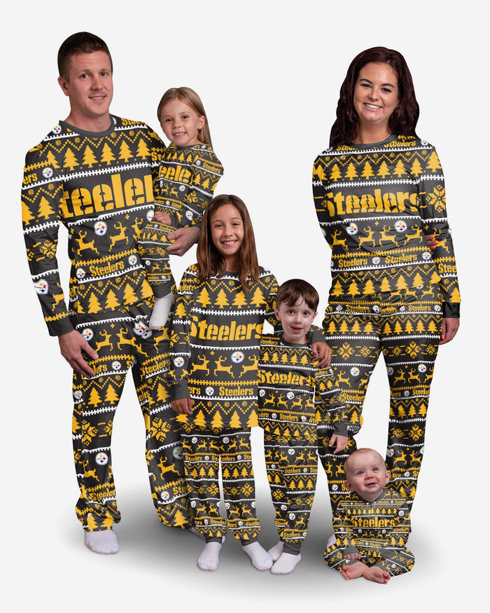 Pittsburgh Steelers Youth Family Holiday Pyjamas FOCO - FOCO.com | UK & IRE