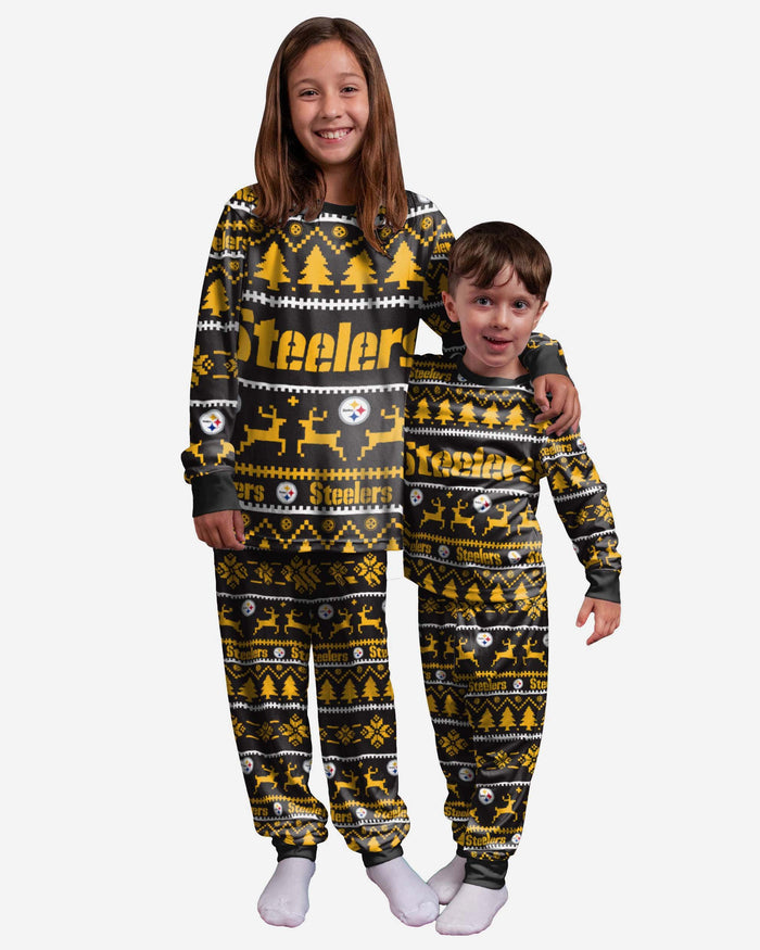 Pittsburgh Steelers Youth Family Holiday Pyjamas FOCO 4 - FOCO.com | UK & IRE