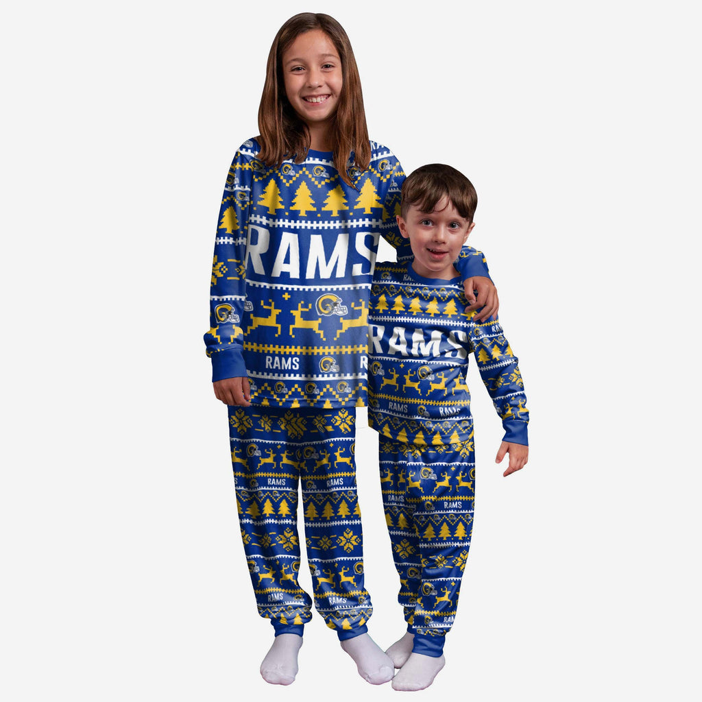 Los Angeles Rams Youth Family Holiday Pyjamas FOCO 4 - FOCO.com | UK & IRE