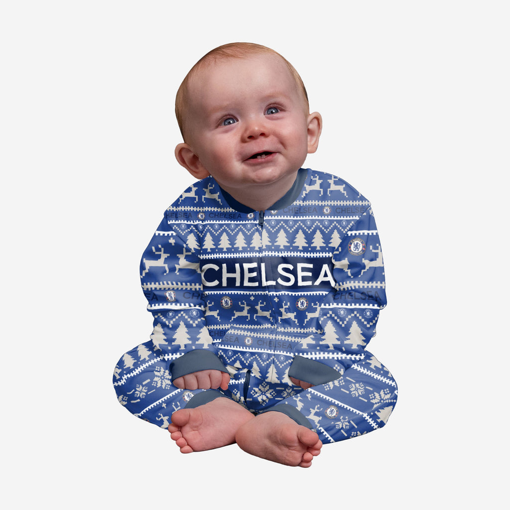 Chelsea FC Infant Family Holiday Pyjamas FOCO 12M - FOCO.com | UK & IRE