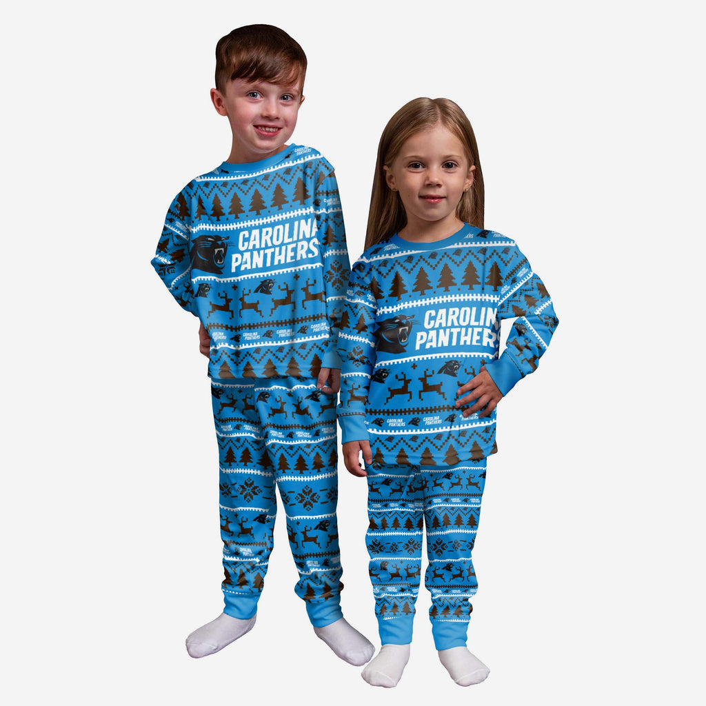 Carolina Panthers Toddler Family Holiday Pyjamas FOCO 2Y - FOCO.com | UK & IRE