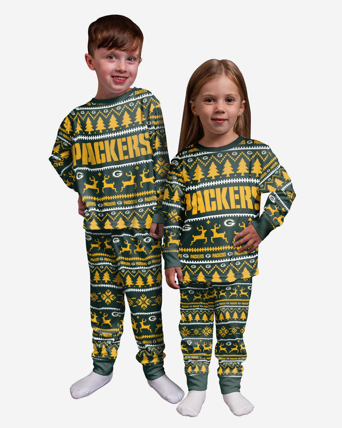 Green Bay Packers Toddler Family Holiday Pyjamas FOCO 2Y - FOCO.com | UK & IRE