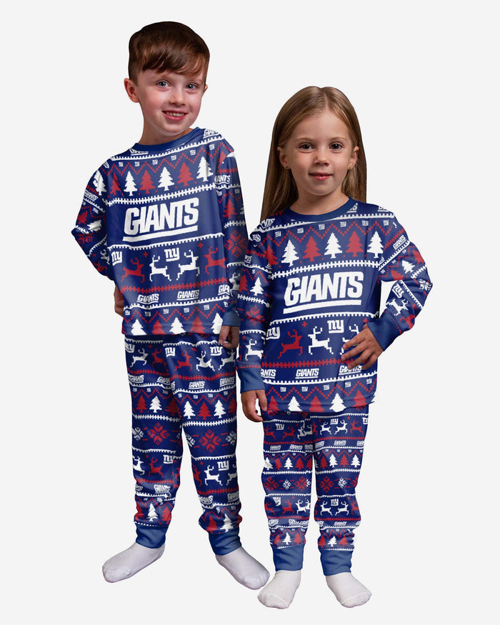 New York Giants Toddler Family Holiday Pyjamas FOCO 2Y - FOCO.com | UK & IRE