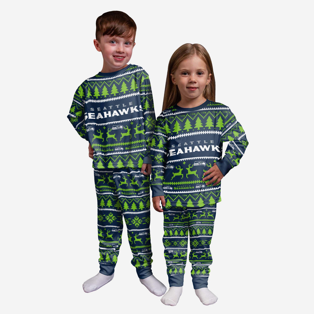 Seattle Seahawks Toddler Family Holiday Pyjamas FOCO 2Y - FOCO.com | UK & IRE