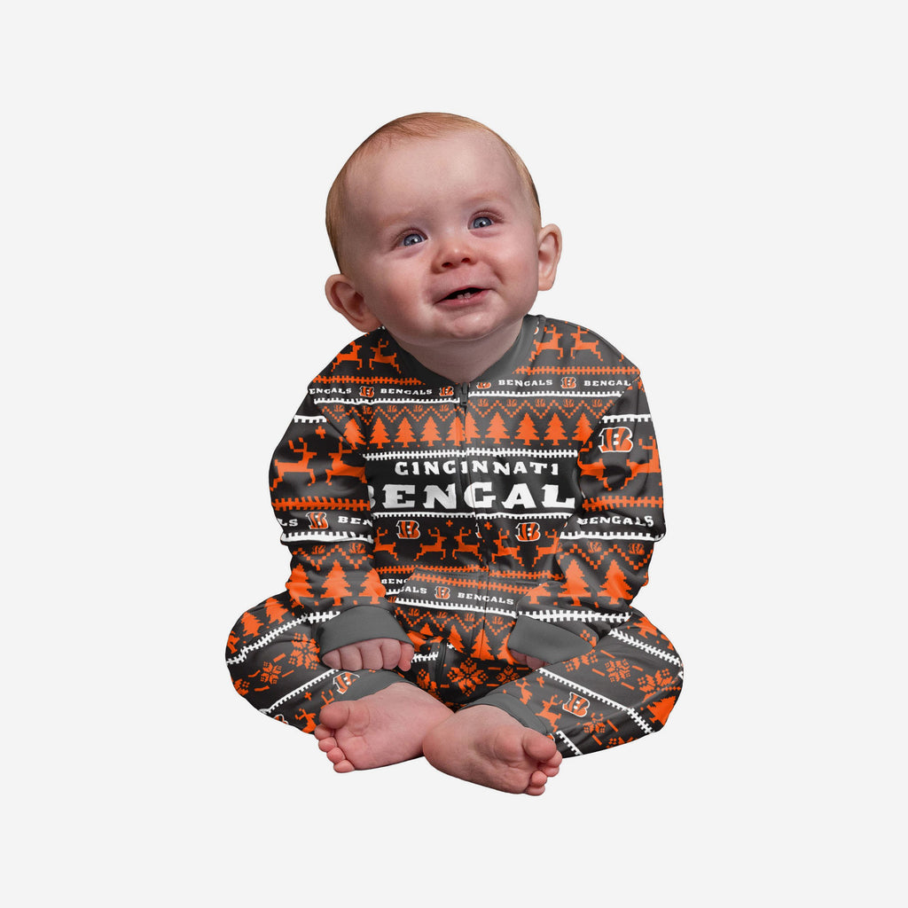 Cincinnati Bengals Infant Family Holiday Pyjamas FOCO 12M - FOCO.com | UK & IRE