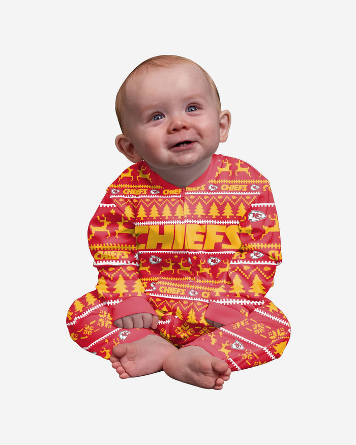 Kansas City Chiefs Infant Family Holiday Pyjamas FOCO 12M - FOCO.com | UK & IRE