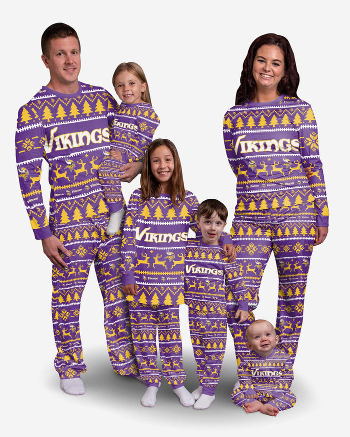 Minnesota Vikings Infant Family Holiday Pyjamas FOCO - FOCO.com | UK & IRE