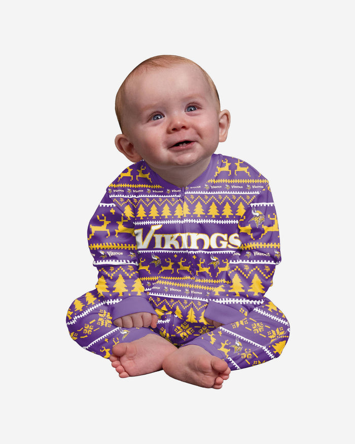 Minnesota Vikings Infant Family Holiday Pyjamas FOCO 12M - FOCO.com | UK & IRE