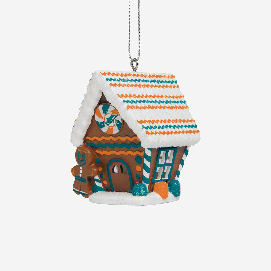Miami Dolphins Gingerbread House Ornament FOCO - FOCO.com | UK & IRE