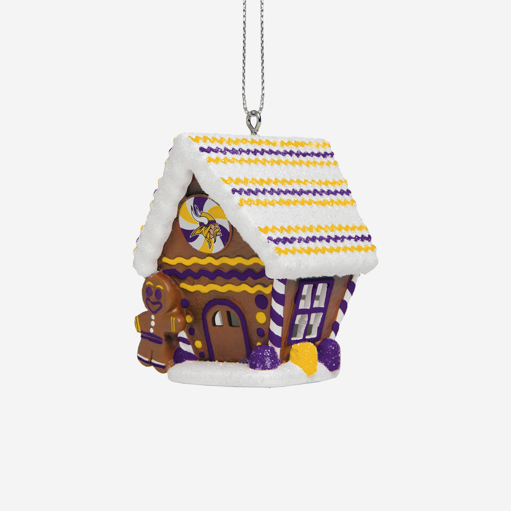 Minnesota Vikings Gingerbread House Ornament FOCO - FOCO.com | UK & IRE