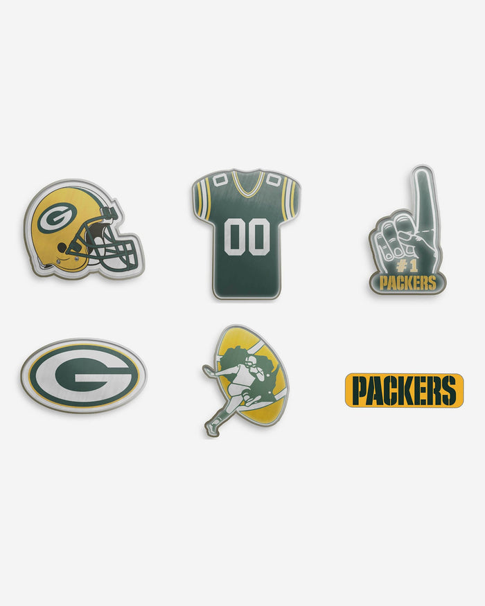Green Bay Packers 6 Piece Pin Badge Set FOCO - FOCO.com | UK & IRE