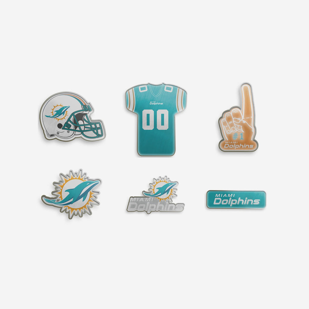 Miami Dolphins 6 Piece Pin Badge Set FOCO - FOCO.com | UK & IRE