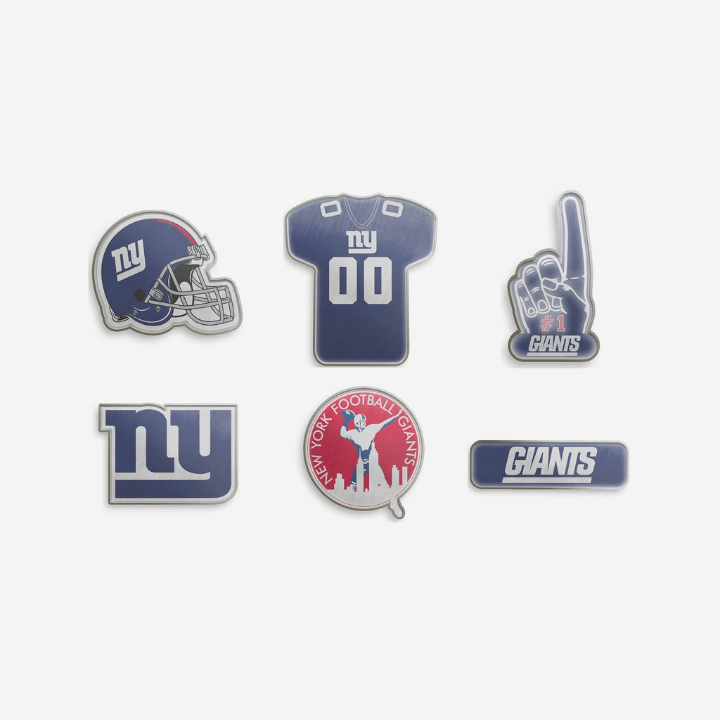 New York Giants 6 Piece Pin Badge Set FOCO - FOCO.com | UK & IRE