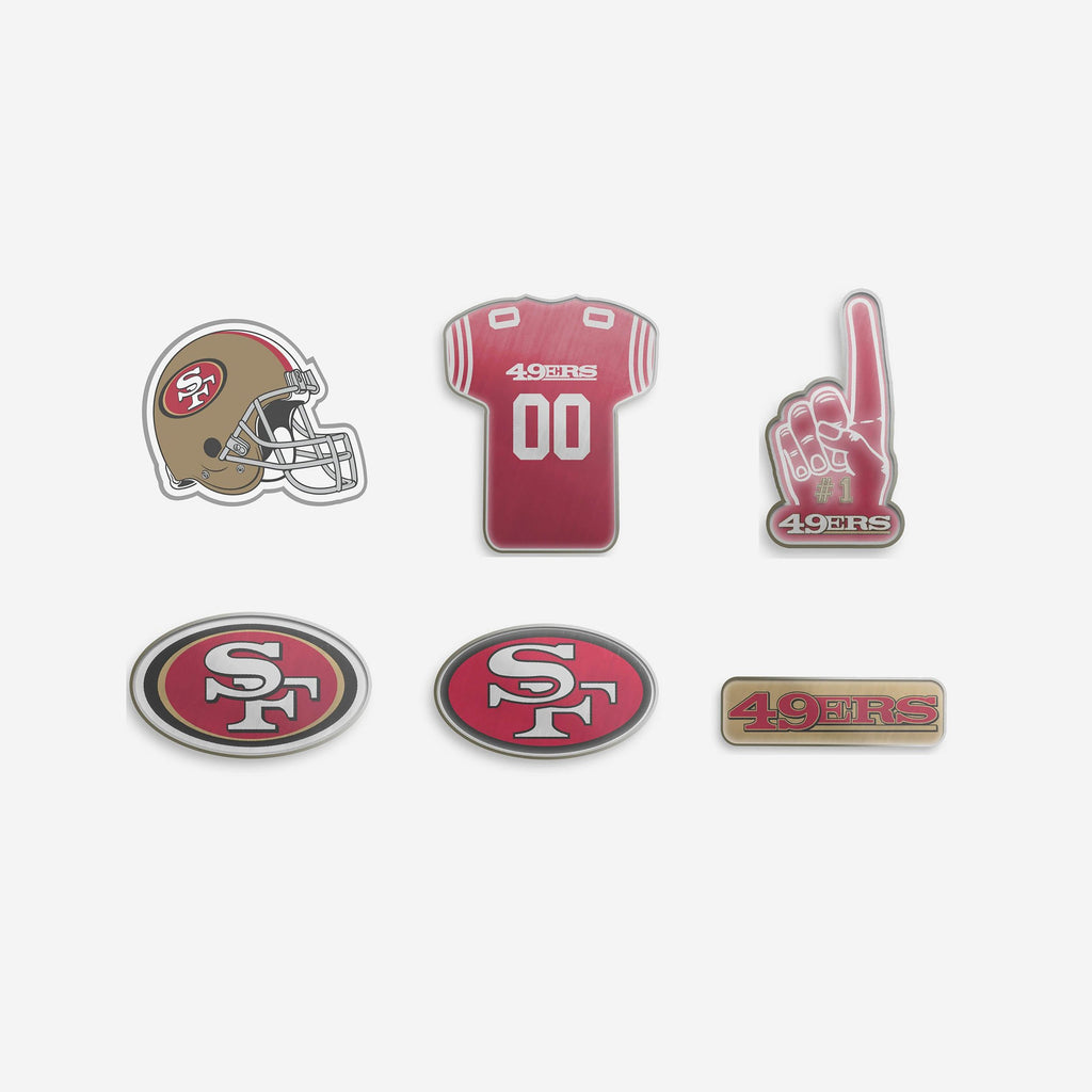 San Francisco 49ers 6 Piece Pin Badge Set FOCO - FOCO.com | UK & IRE