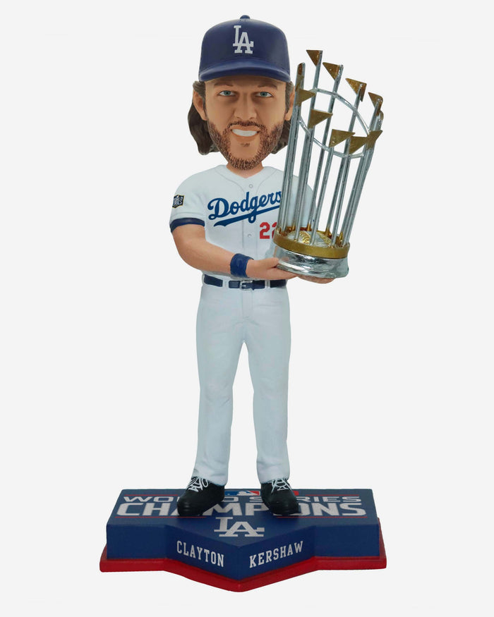 Clayton Kershaw Los Angeles Dodgers 2020 World Series Champions Bobblehead FOCO - FOCO.com | UK & IRE