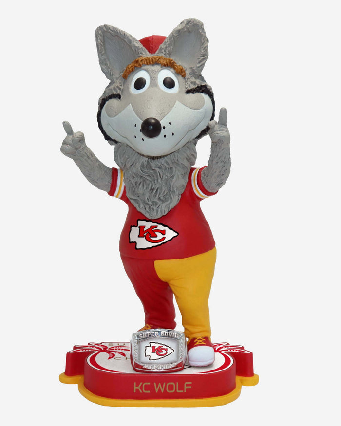 KC Wolf Kansas City Chiefs Super Bowl LIV Champions Bobblehead FOCO - FOCO.com | UK & IRE