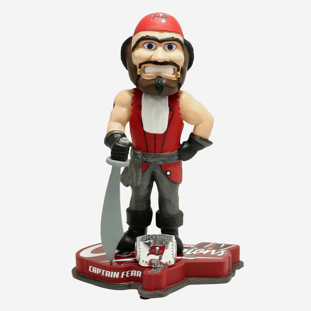 Captain Fear Tampa Bay Buccaneers Super Bowl LV Champions Mascot Bobblehead FOCO - FOCO.com | UK & IRE