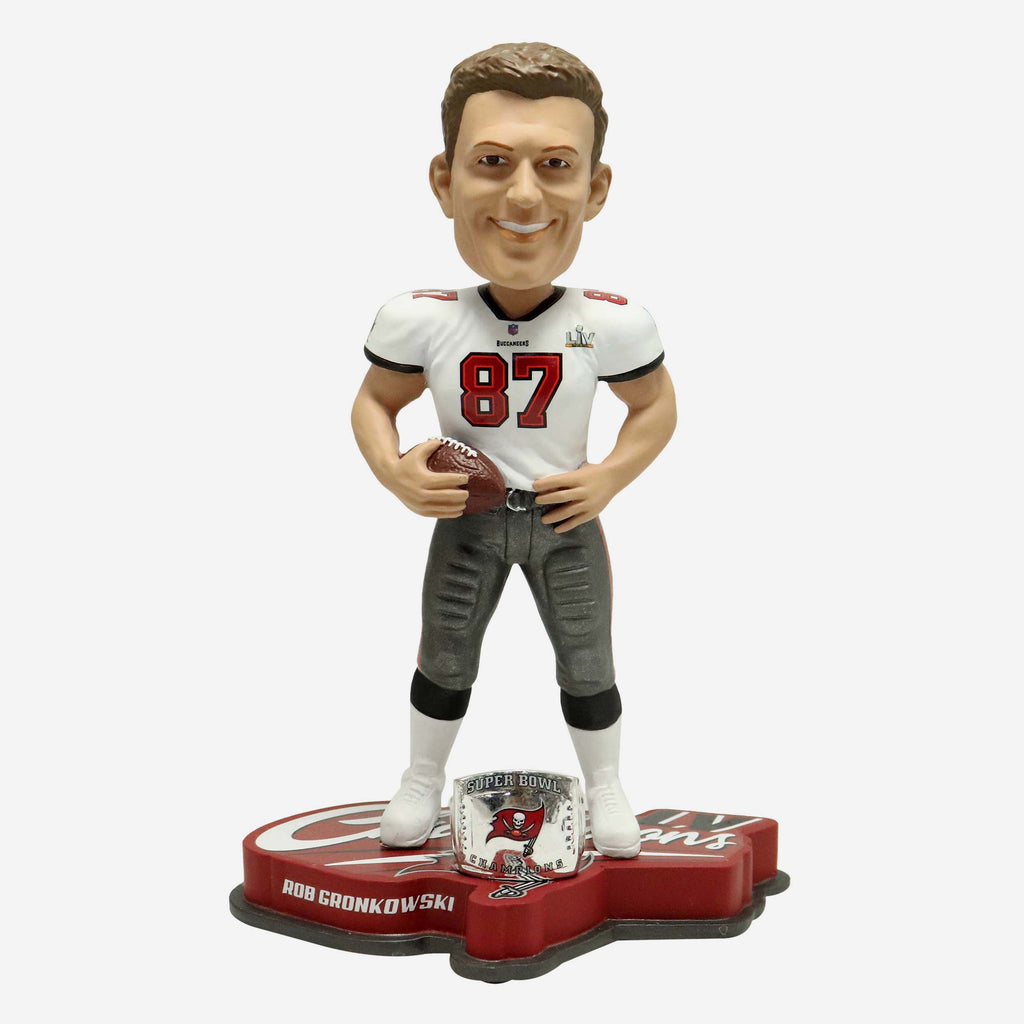 Rob Gronkowski Tampa Bay Buccaneers Super Bowl LV Champions Bobblehead FOCO - FOCO.com | UK & IRE