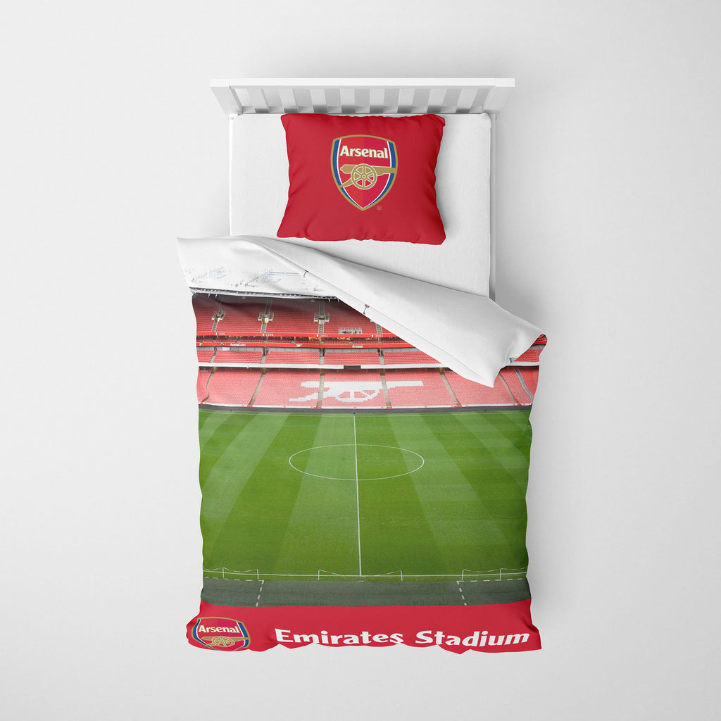 Arsenal FC Stadium Digital Print Single Duvet FOCO - FOCO.com | UK & IRE
