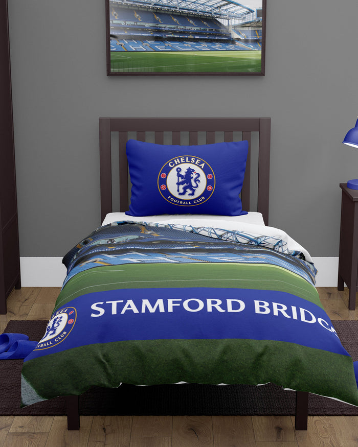 Chelsea FC Stadium Digital Print Single Duvet FOCO - FOCO.com | UK & IRE