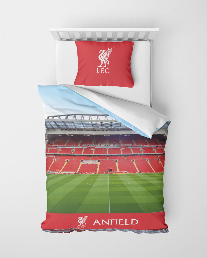 Liverpool FC Stadium Digital Print Single Duvet FOCO - FOCO.com | UK & IRE