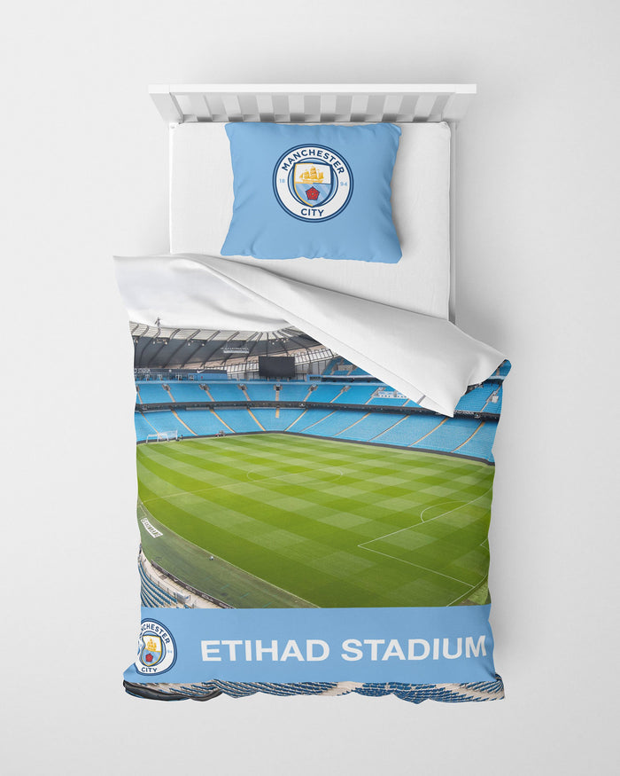 Manchester City FC Stadium Digital Print Single Duvet FOCO - FOCO.com | UK & IRE