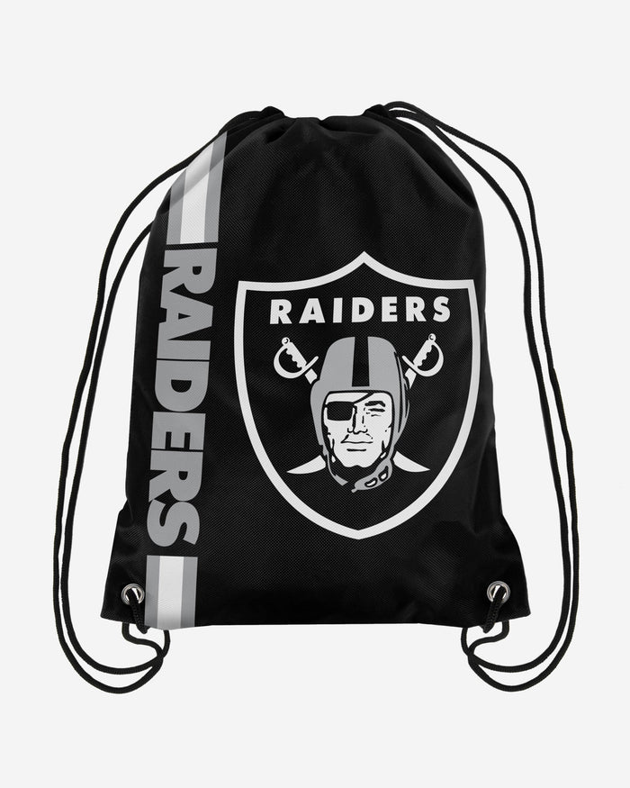 Las Vegas Raiders Big Logo Drawstring Backpack FOCO - FOCO.com | UK & IRE