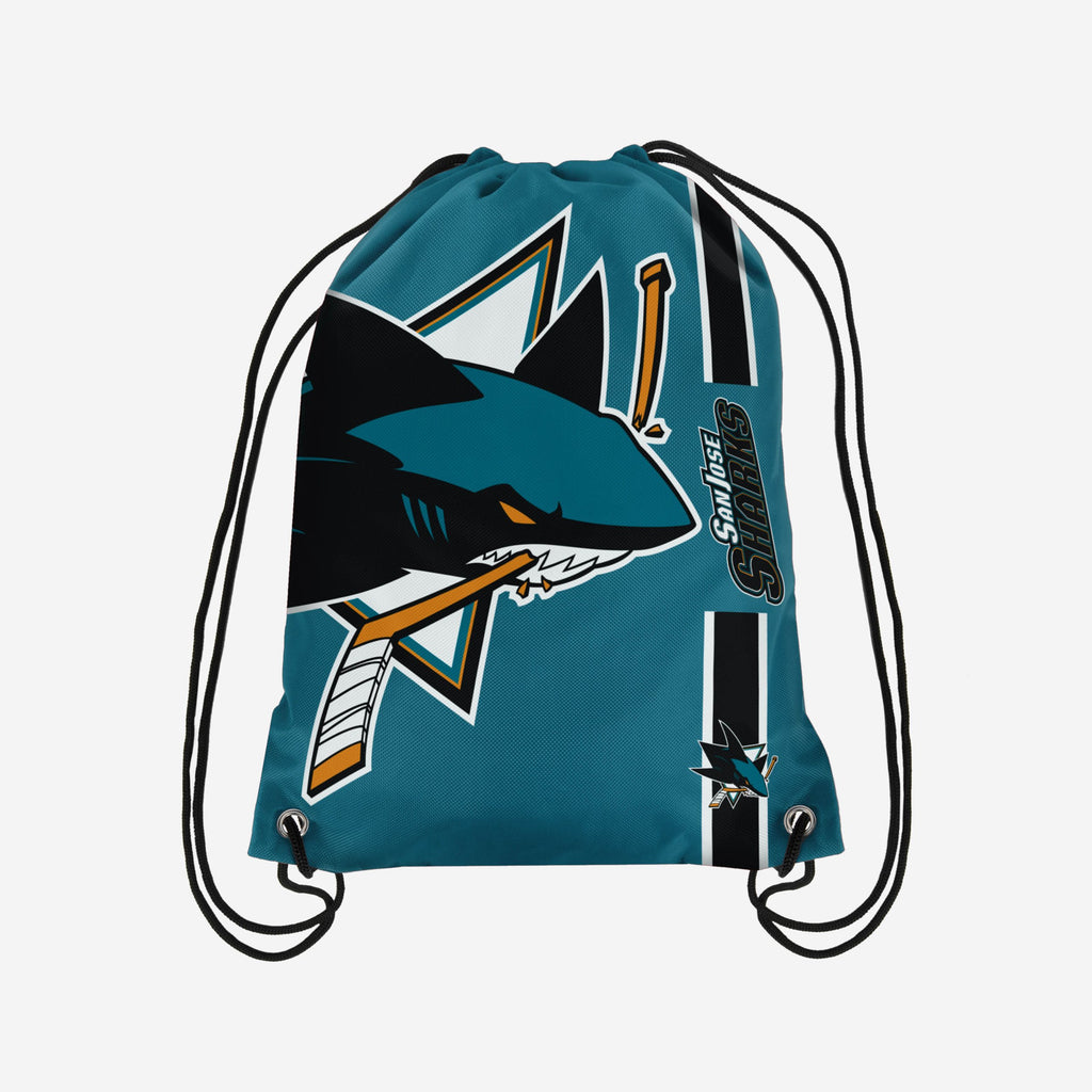 San Jose Sharks Big Logo Drawstring Backpack FOCO - FOCO.com | UK & IRE