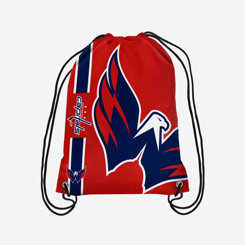 Washington Capitals Big Logo Drawstring Backpack FOCO - FOCO.com | UK & IRE