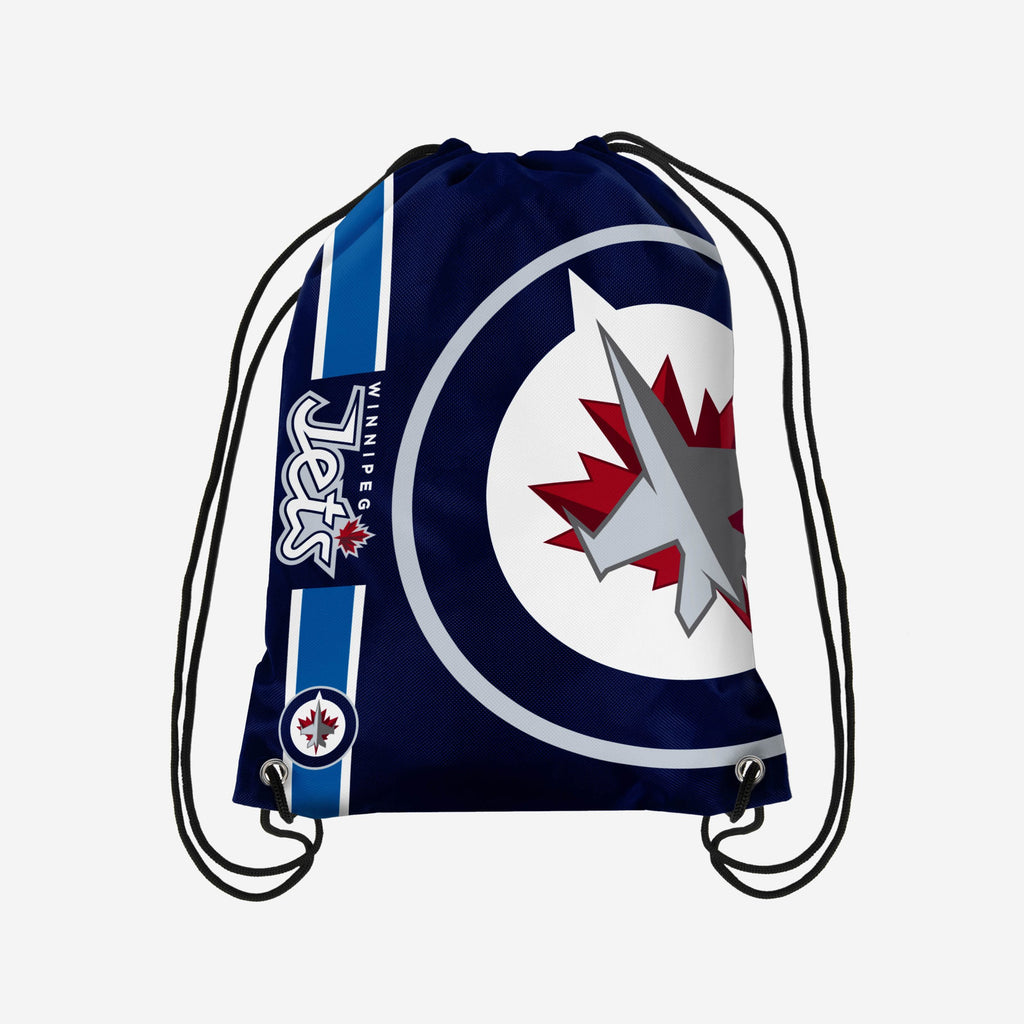 Winnipeg Jets Big Logo Drawstring Backpack FOCO - FOCO.com | UK & IRE
