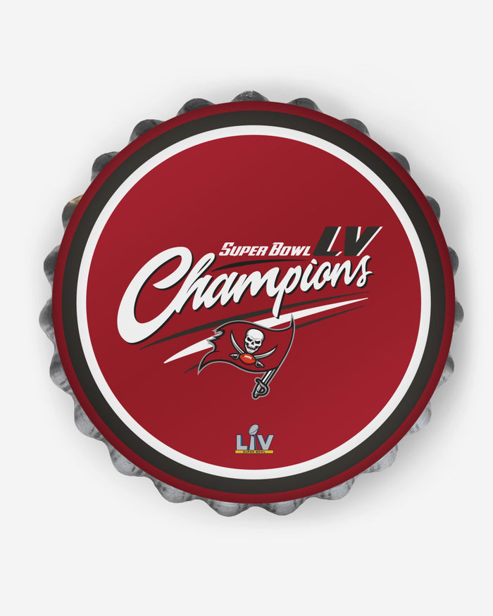 Tampa Bay Buccaneers Super Bowl LV Champions Bottle Cap Wall Sign FOCO - FOCO.com | UK & IRE