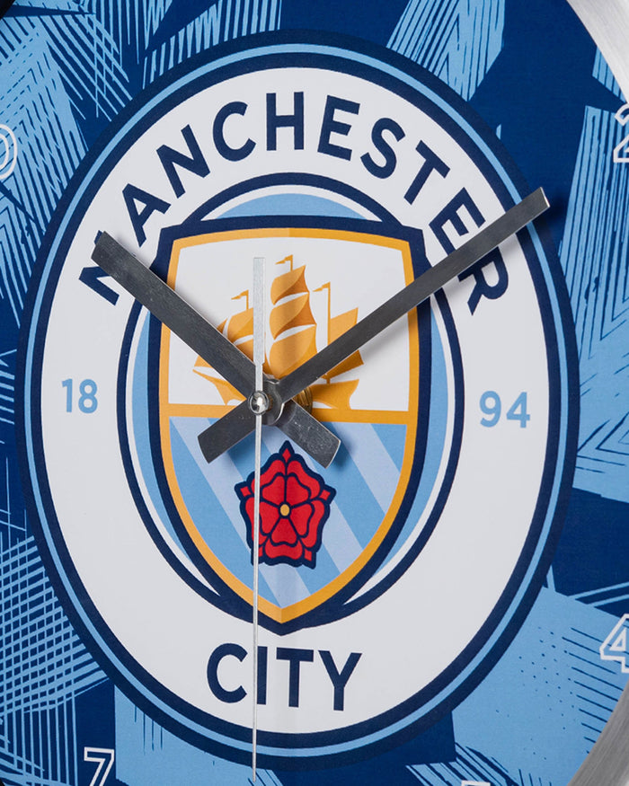 Manchester City FC Metal Wall Clock FOCO - FOCO.com | UK & IRE