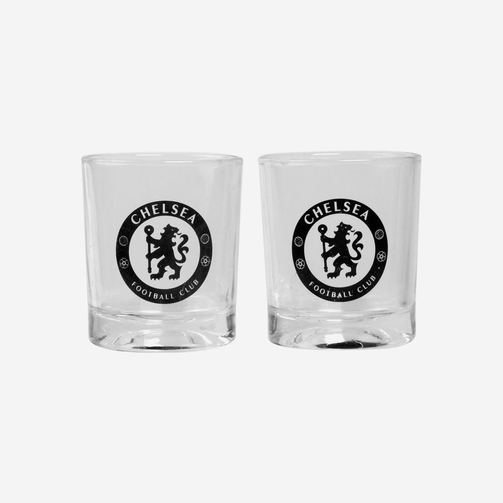 Chelsea FC 2 Pack Whiskey Glasses FOCO - FOCO.com | UK & IRE