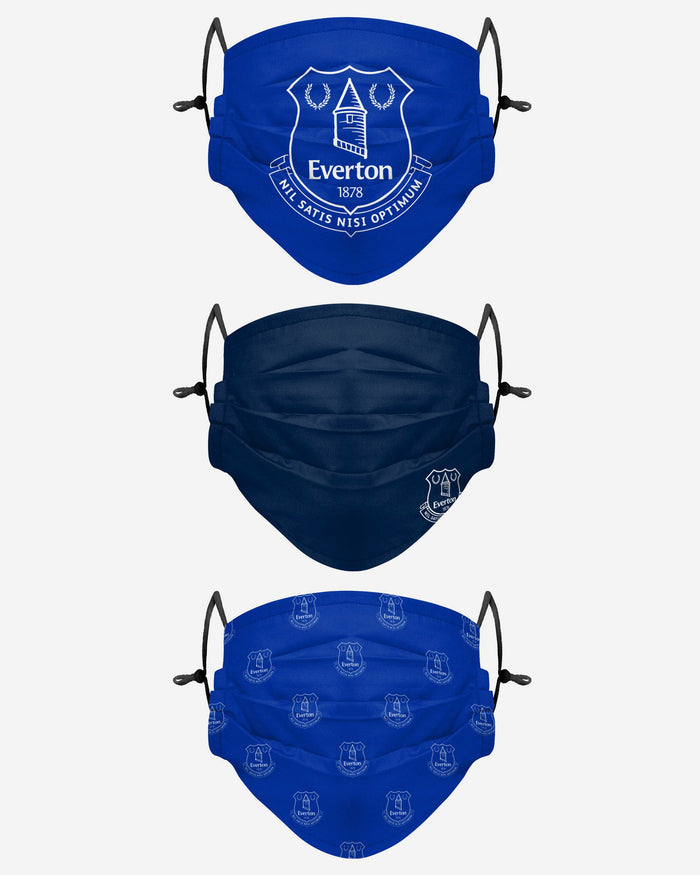 Everton FC Pleated 3 Pack Face Cover FOCO Adult - FOCO.com | UK & IRE