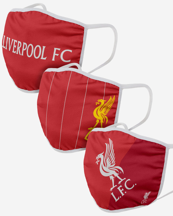 Liverpool FC 3 Pack Face Cover FOCO Adult - FOCO.com | UK & IRE