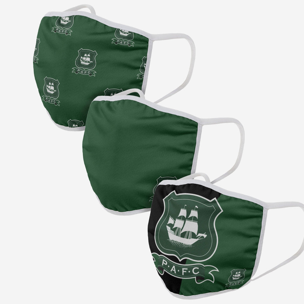 Plymouth FC 3 Pack Face Cover FOCO - FOCO.com | UK & IRE