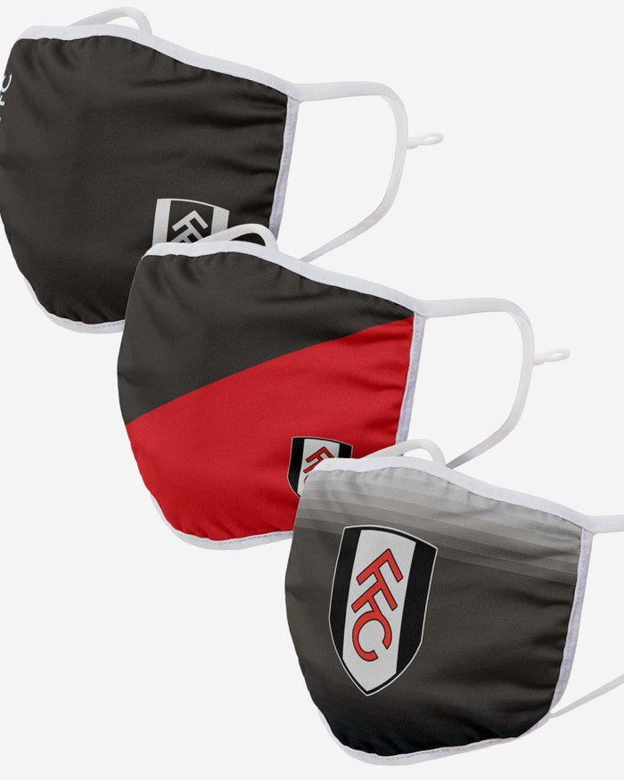 Fulham FC 3 Pack Adjustable Printed Face Cover FOCO - FOCO.com | UK & IRE