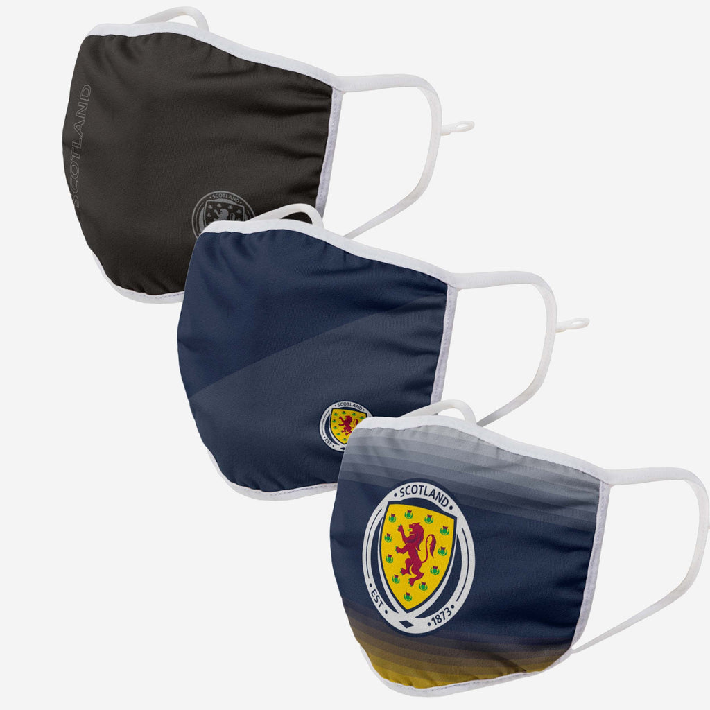 Scotland 3 Pack Adjustable Printed Face Cover FOCO - FOCO.com | UK & IRE