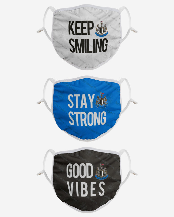 Newcastle United FC Positive Slogan 3 Pack Face Cover FOCO - FOCO.com | UK & IRE