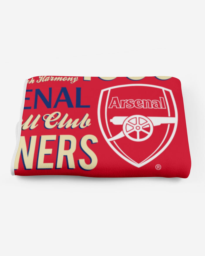 Arsenal FC Sherpa Fleece Blanket FOCO - FOCO.com | UK & IRE