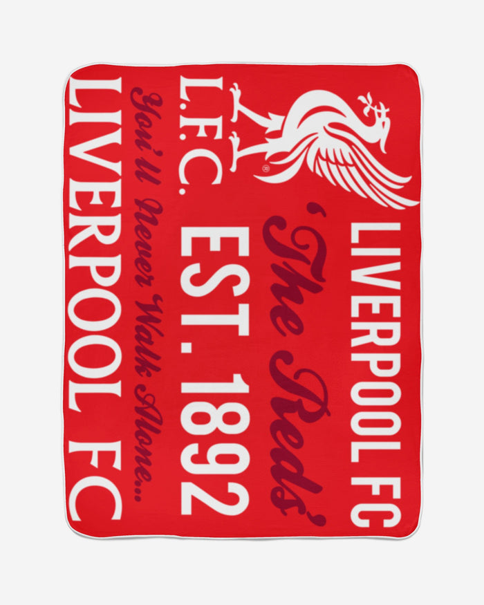 Liverpool FC Sherpa Fleece Blanket FOCO - FOCO.com | UK & IRE