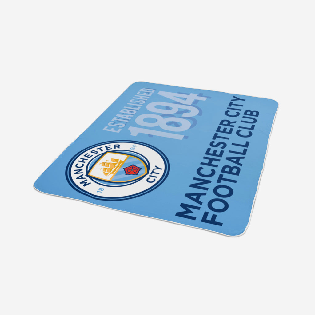 Manchester City FC Sherpa Fleece Blanket FOCO - FOCO.com | UK & IRE