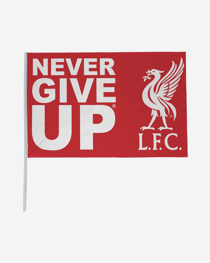 Liverpool FC Never Give Up Red 3 x 2 Flag FOCO - FOCO.com | UK & IRE