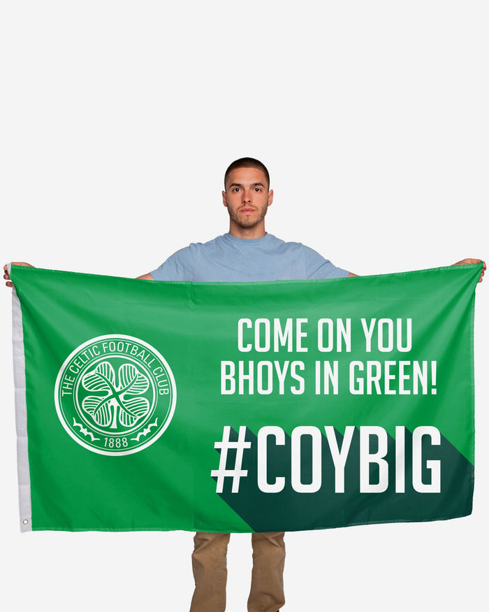 Celtic FC Motivational Slogan Flag FOCO - FOCO.com | UK & IRE